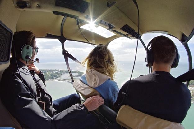 people in chopper