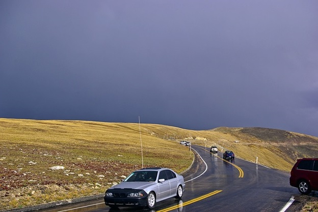 The trail ridge road in the Rocky Mountains National Park, Denver