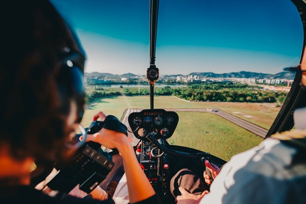 A helicopter tour