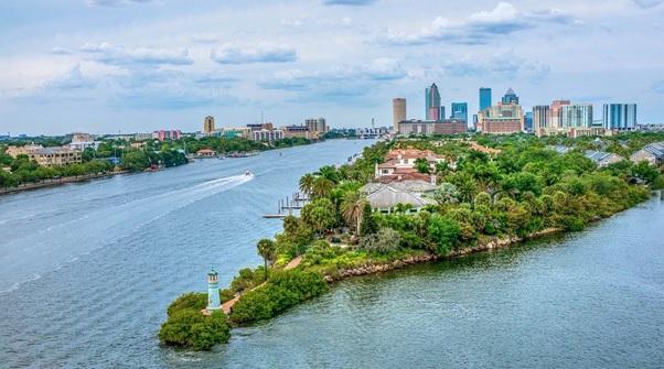 Tampa Bay in Florida